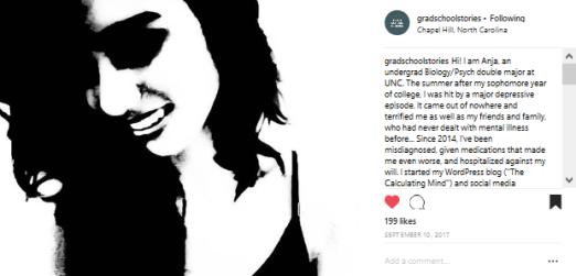 My story @gradschoolstories on Instagram